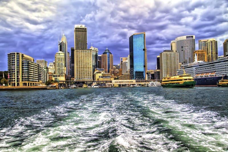 Kółkowy Quay pejzaż miejski Sydney Australia zdjęcie royalty free