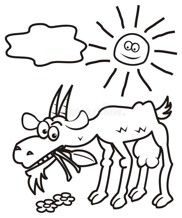Kózka i słońce, kolorystyki książka ilustracji