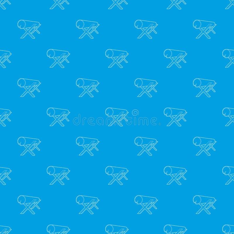 Kózki dla piłować bele deseniują wektorowego bezszwowego błękit ilustracja wektor
