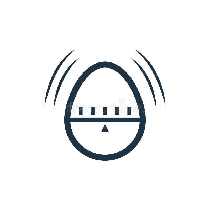 Kökäggklockasymbol stock illustrationer
