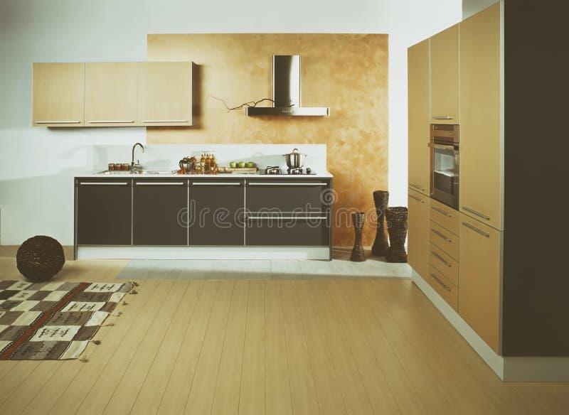Kök för modern design - materielbild arkivbilder