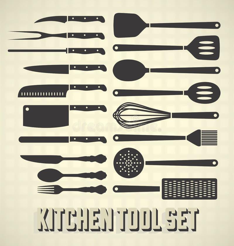 Kökhjälpmedeluppsättning vektor illustrationer