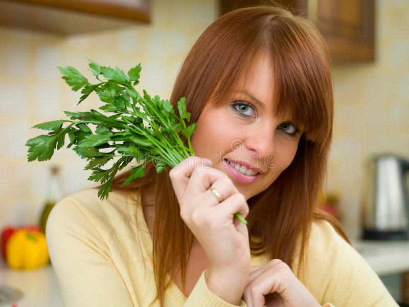 kökkvinna arkivfoto