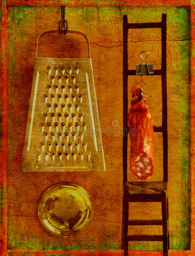 köklivstid fortfarande stock illustrationer