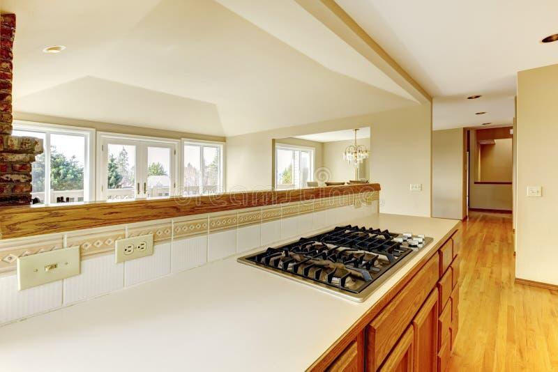Köksskåp med bulit-i ugnen arkivbild
