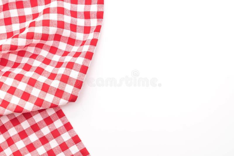 köktorkduk (servett) på vit bakgrund royaltyfri foto