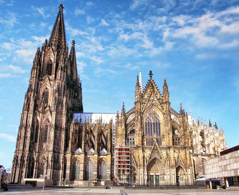 Köln-Kathedrale in Deutschland lizenzfreies stockbild
