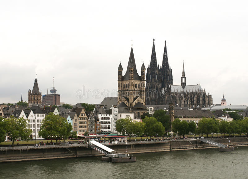Köln-Vogelperspektive stockbilder