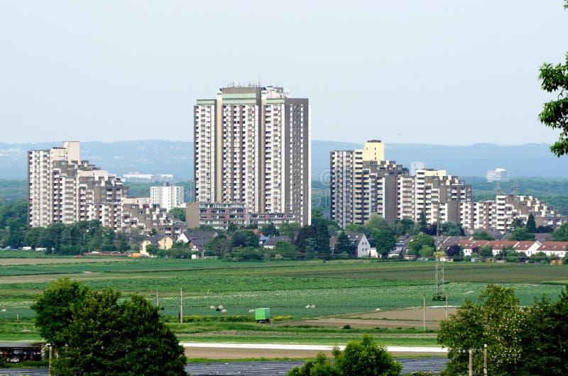 Kölnberg sociale huisvesting in Keulen stock afbeeldingen
