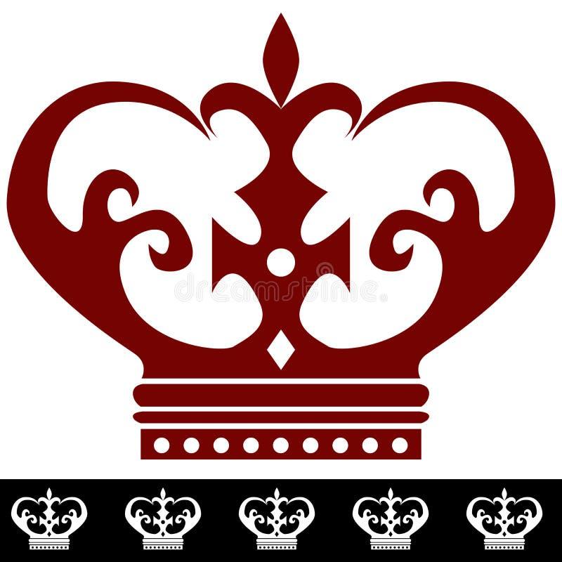 König Crown Icon und Rand lizenzfreie abbildung