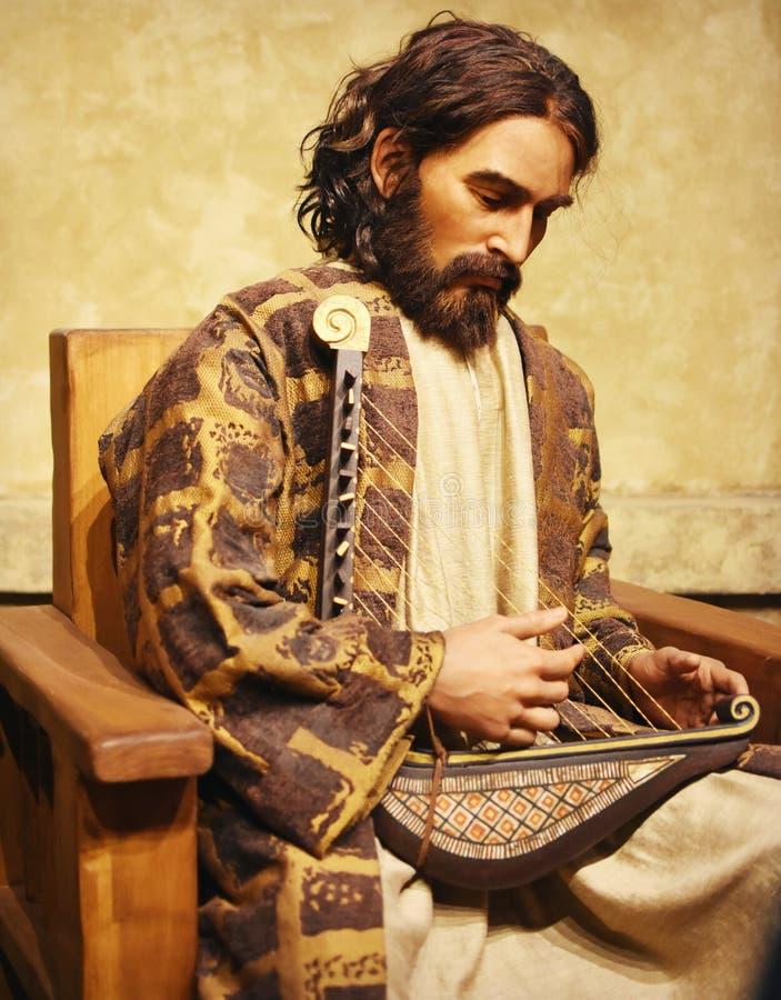 König David Playing eine Harfe stockfotos