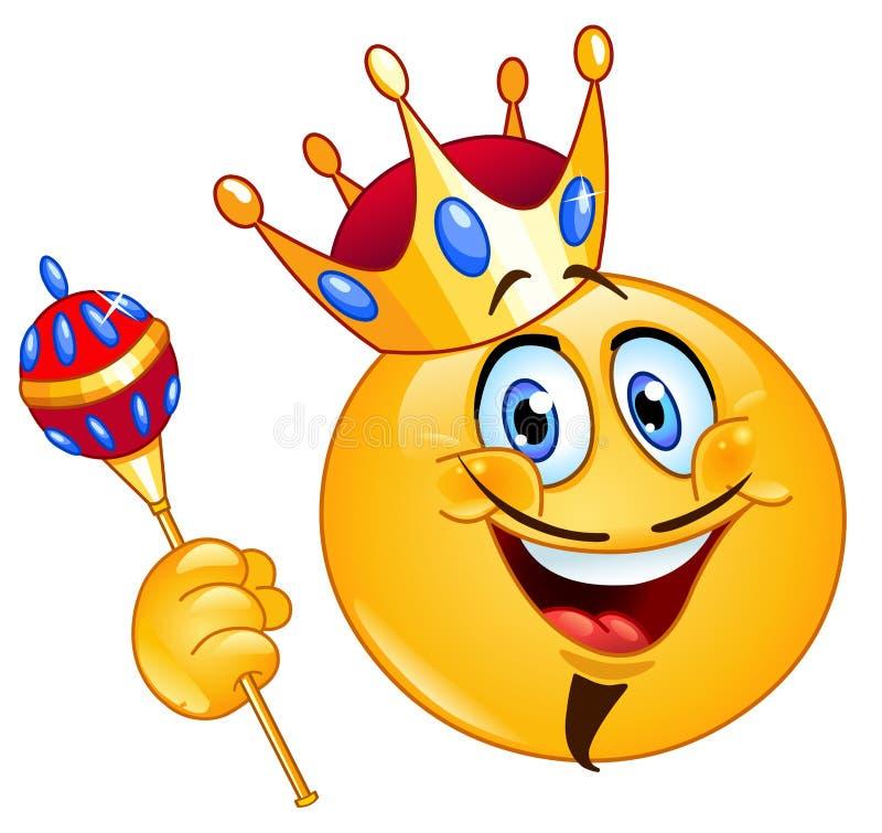 König Emoticon lizenzfreie abbildung