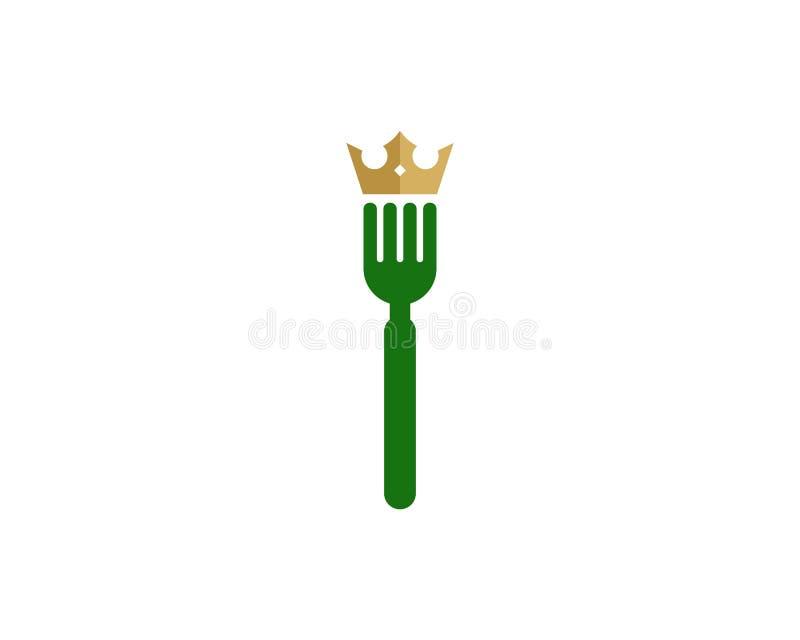 König Food Icon Logo Design Element lizenzfreie abbildung