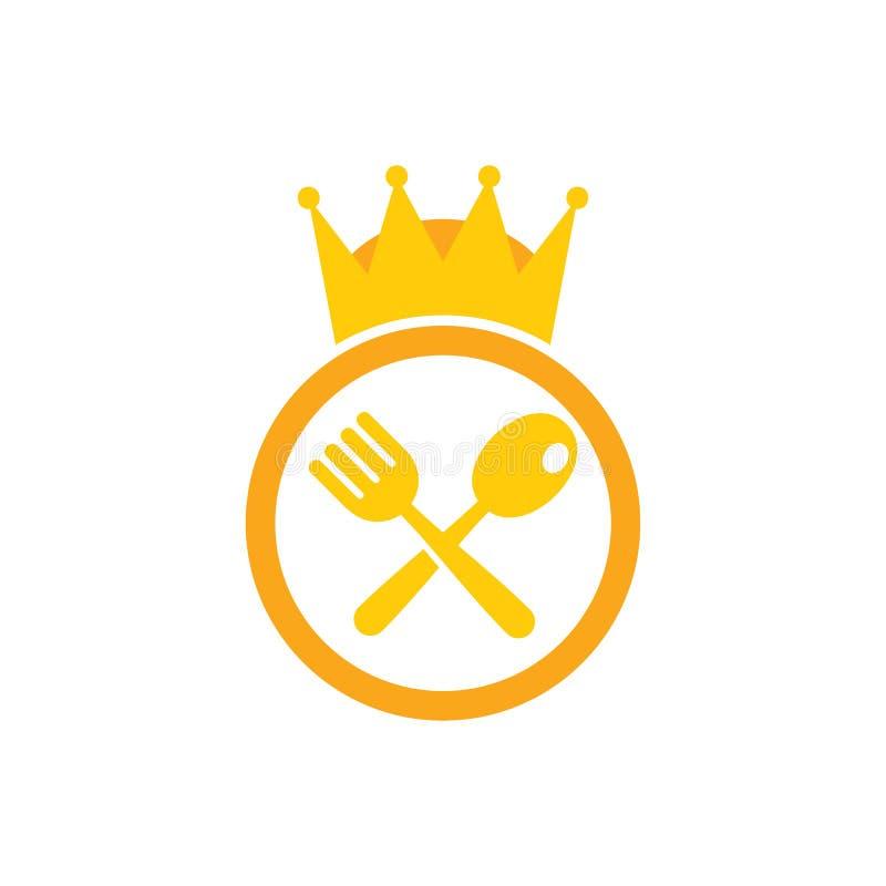 König Food Logo Icon Design stock abbildung