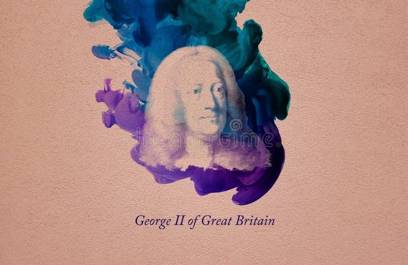 König George II von Großbritannien vektor abbildung