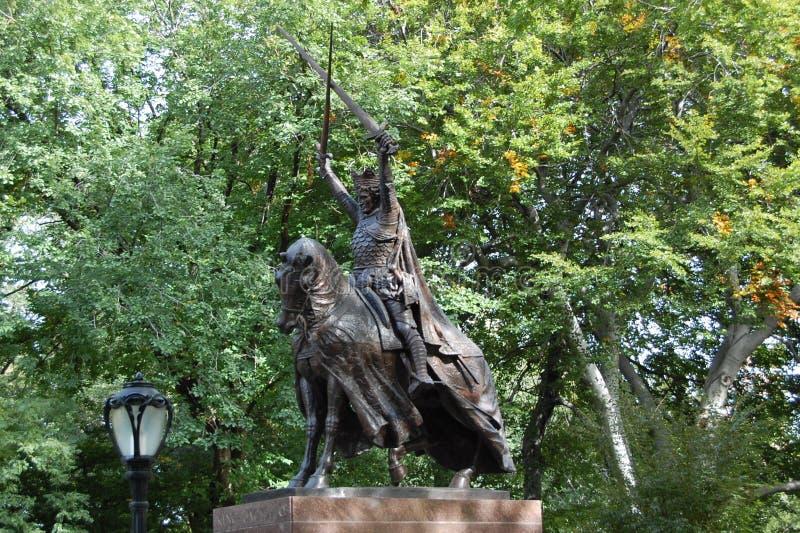 König Jagiello, Central Park, New York City stockbild