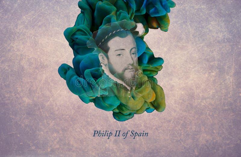 König Philip II von Spanien lizenzfreie abbildung