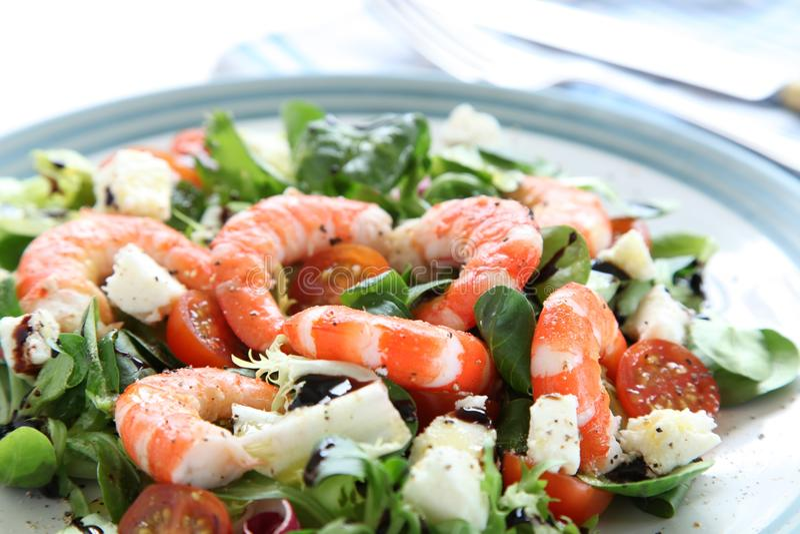 König Prawn Salad stockfoto
