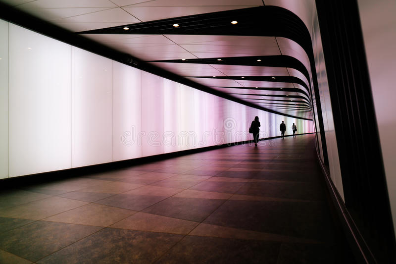 König ` s Kreuz-Fußgänger-Tunnel lizenzfreies stockfoto