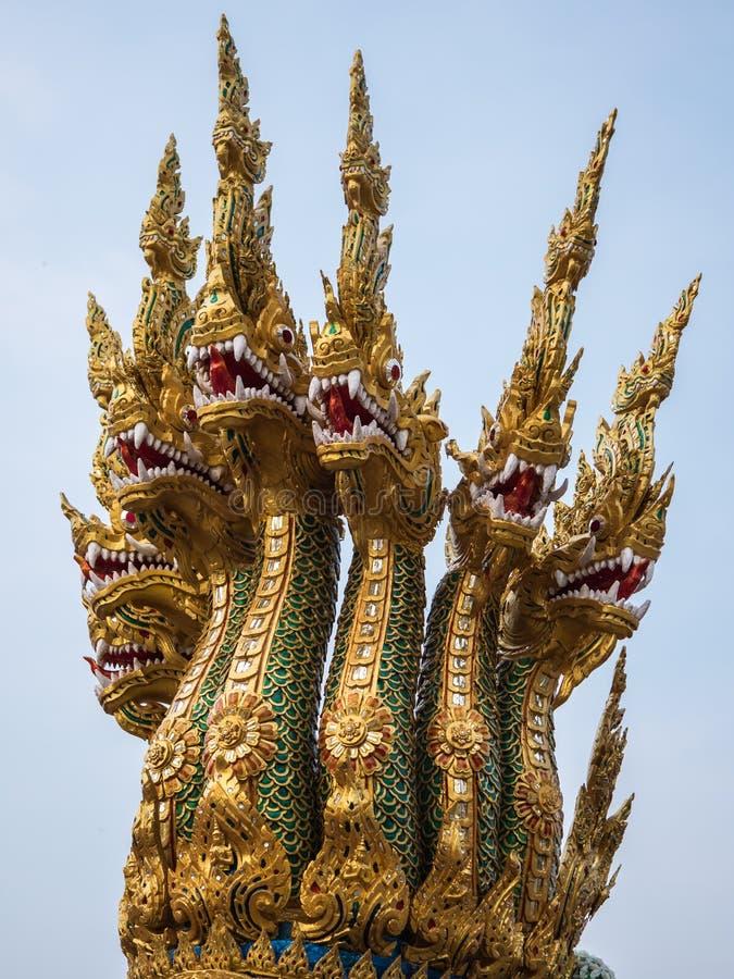 König sieben von Nagaköpfen stockbilder