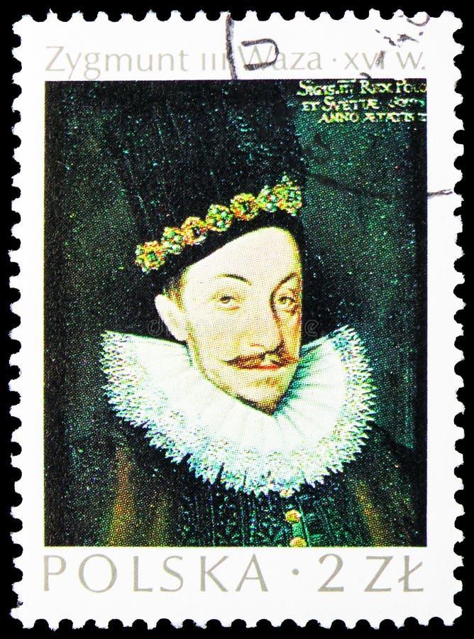 König Sigismund Vasa (Zygmunt III Waza), Meisterwerke polnischen Kunst serie, circa 1974 stockfoto