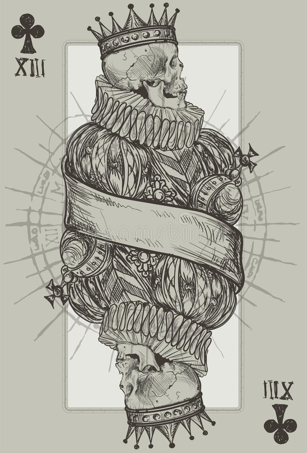 König Skeleton lizenzfreie abbildung