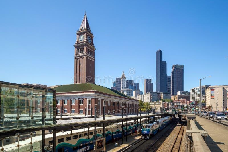 König Street Station in Seattle lizenzfreie stockbilder