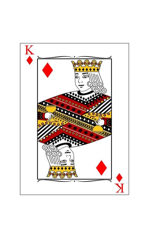König von Diamanten lizenzfreie abbildung