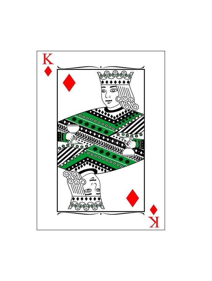 König von Diamanten stock abbildung