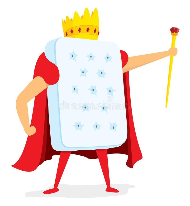 König von Gehirnen mit Krone und Zepter stock abbildung
