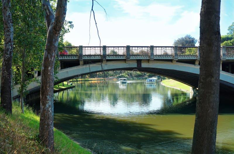 König William Road Bridge, Adelaide, Süd-Australien stockfotografie