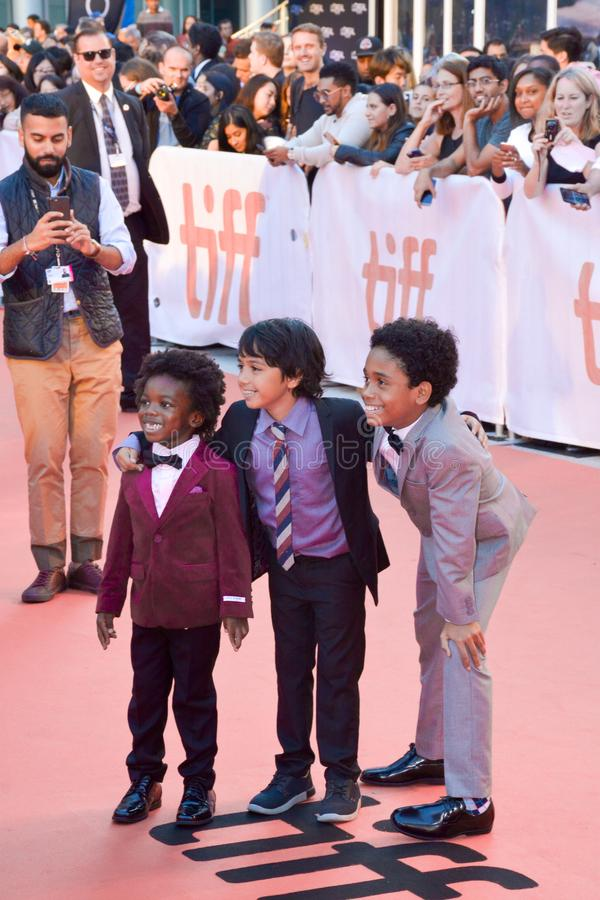 KÖNIGE führen am internationalen Filmfestival Torontos für KÖNIGpremiere erstauf lizenzfreie stockbilder