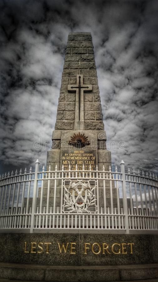 Könige Park Anzac Monument lizenzfreie stockfotos