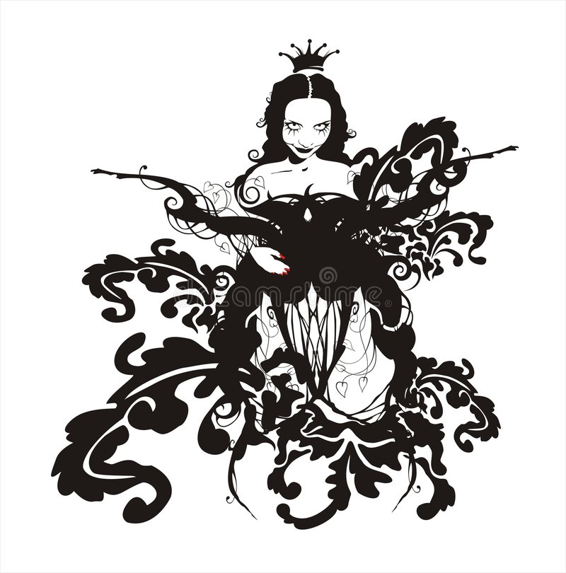 Königin stock abbildung