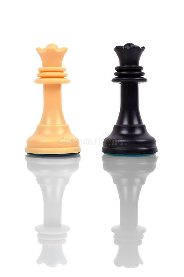 Download Königin des Schachs zwei stockfoto. Bild von hintergrund - 47101484