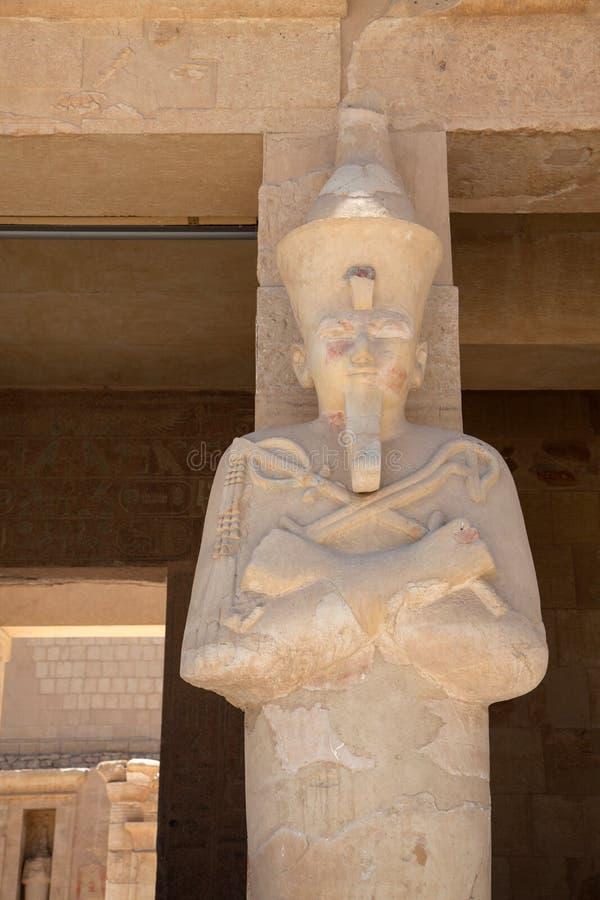 Königin Hatshepsut als Osiris stockfoto