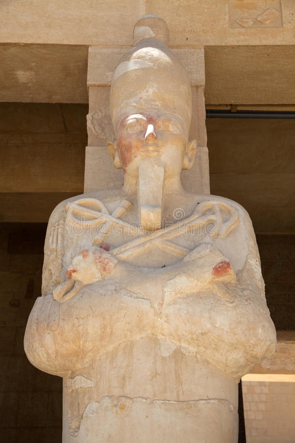 Königin Hatshepsut als Osiris lizenzfreies stockbild