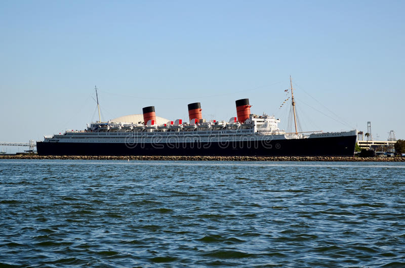 Königin Mary Liner, Long Beach, Los Angeles, USA stockfoto