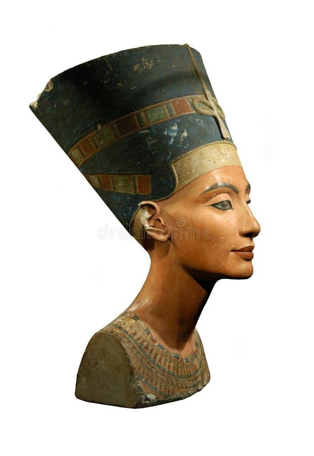 Königin Nefertiti getrennt auf Weiß stockfotografie