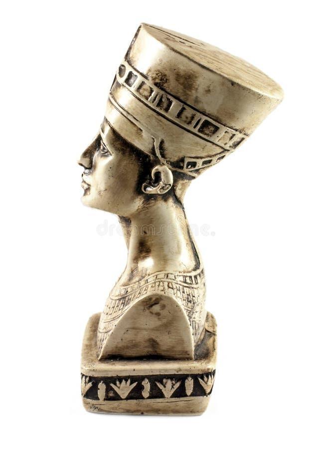 Königin Nefertiti getrennt auf Weiß lizenzfreies stockfoto