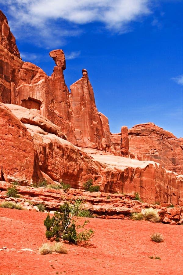 Königin Nefertiti Rock Arches National Park Moab Utah lizenzfreie stockbilder