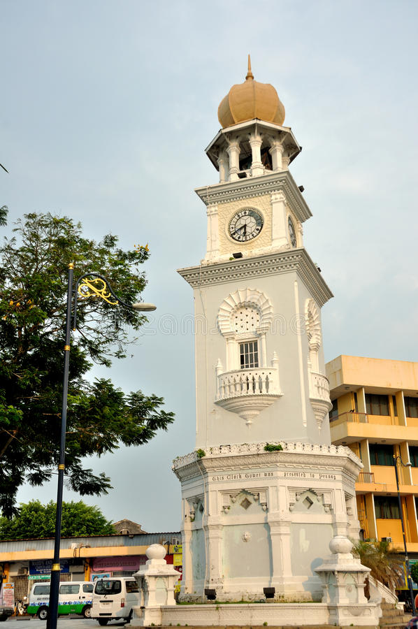 Königin Victoria Diamond Jubilee Clocktower in Penang lizenzfreie stockbilder