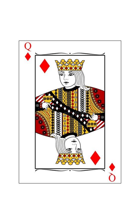 Königin von Diamanten stock abbildung