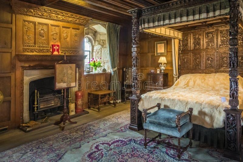 Königinschlafzimmer in Hever-Schloss stockbilder