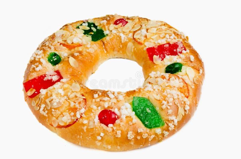 Königkuchen oder Roscon de Reyes stockfoto
