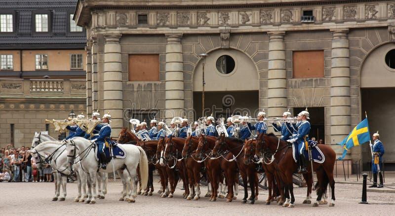 Königliche Abdeckungänderung, Stockholm stockfotografie