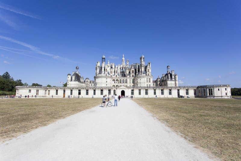 Königliche Chateau de Chambord bei Chambord stockbilder