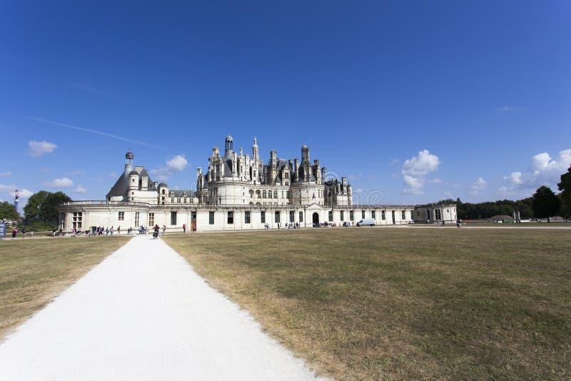 Königliche Chateau de Chambord bei Chambord lizenzfreie stockbilder