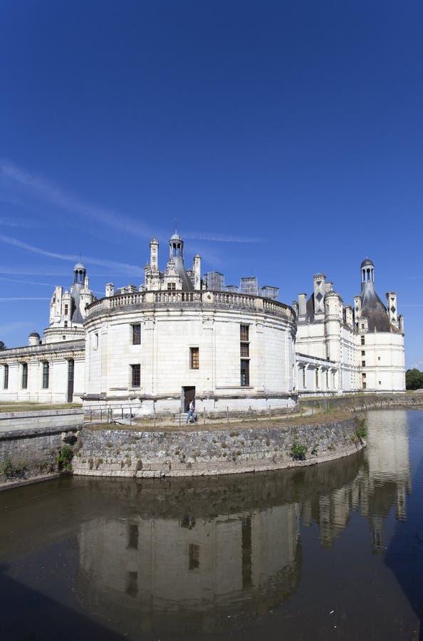 Königliche Chateau de Chambord bei Chambord stockfotografie