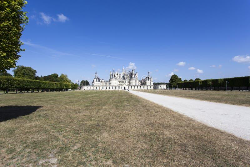 Königliche Chateau de Chambord bei Chambord lizenzfreies stockbild